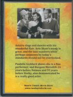 Second Chorus (1940) Back Cover DVD