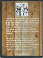 Lone Ranger Double Feature Back Cover DVD