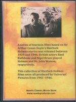Sherlock Holmes 4 Disc Collection Back Cover DVD