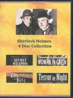 Sherlock Holmes 4 Disc Collection Front Cover DVD