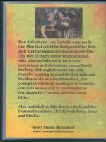 Jack and the Beanstalk (1952) Back Cover DVD