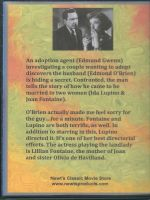The Bigamist (1953) Back Cover DVD