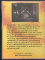 Adventures of Captain Marvel (1941) Back Cover DVD