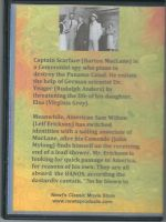 Captain Scarface (1953) Back Cover DVD