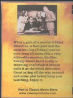 Eyes In The Night (1942) Back Cover DVD