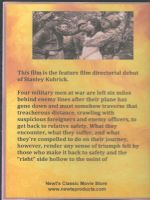 Fear and Desire (1953) Back Cover DVD