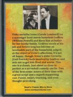 My Man Godfrey (1936) Back Cover DVD