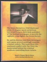 The Green Hornet (1940) Back Cover DVD