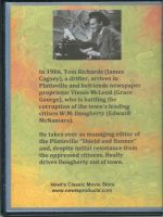 Johnny Come Lately (1943) Back Cover DVD