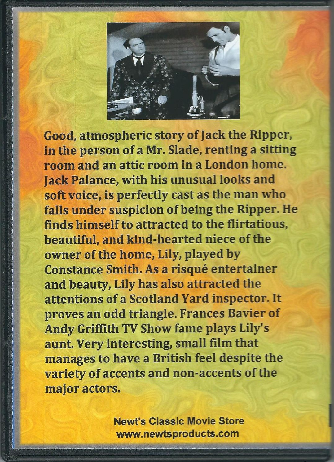 Man In The Attic (1953) Back Cover DVD