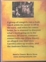 Moonlight and Cactus (1944) Back Cover DVD