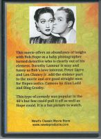 My Favorite Brunette (1947) Back Cover DVD