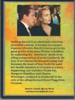 Nothing Sacred (1937) Back Cover DVD