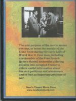 Secret Mission (1942) Back Cover DVD