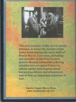 Secret Mission (1942) Back Cover DVD