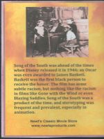 Song of the South (1946) Back Cover DVD
