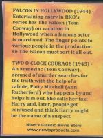 Tom Conway Double Feature Back Cover DVD