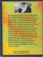 The Strange Affair of Uncle Harry (1945) Back Cover DVD