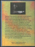 King of the Zombies (1941) Back Cover DVD
